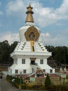 The great stupa at Og Min Ogyen Mindroling Monastery, Dehradun, Uttarakhand, India.