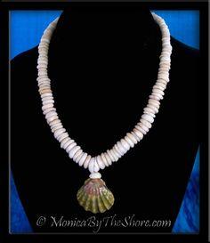Rare Moonrise & North Shore Puka Shells Hawaiian Sunrise Shell Necklace