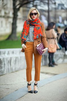 Stripes and terracotta - Joanna Hillman   - HarpersBAZAAR.com