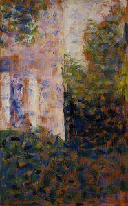 angle de a maison - (Georges Pierre Seurat)
