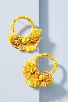 Slide View: 1: Luau Hooped Post Earrings