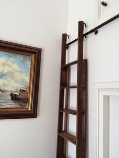 "Képtalálat a következőre: ""space saving loft stairs"" Attic Loft, Loft Room, Attic Rooms, Loft Stairs, House Stairs, Ship Ladder, Library Ladder, Attic Remodel, Staircase Design"