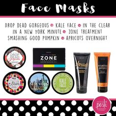 Our amazing face masks all natural cruelty free and made in the USA A New York Minute, Posh Shop, Go Pink, Clear Face, Best Pumpkin, Treat Yoself, Perfectly Posh, Posh Love, Facial Masks