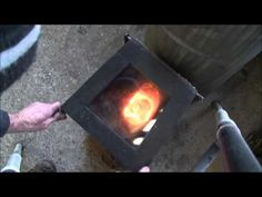 large firebox part 2 Sawdust burn and stove plans - YouTube