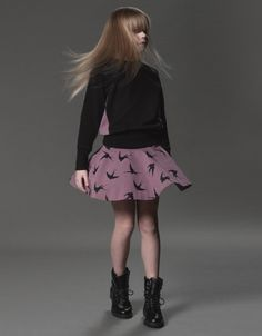 Love this plum coloured printed skater skirt by New Generals, for Autumn Winter 2013