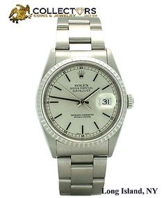 Womens MINT Rolex DateJust Stainless Steel 36mm Silver Stick Dial Oyster 16220 Watch #womens #mint #rolex #datejust #silver #stick #silver #dial #oyster #jewelry #watch