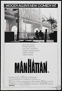 Manhattan Woody Allen vintage movie poster
