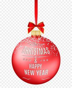 Merry Christmas Ball Transparent PNG Clip Art Image