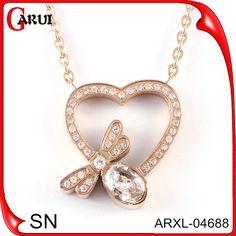 Accessory 2015 silver pendants heatshape rhinestone necklace-Colares-ID do produto:60094444898-portuguese.alibaba.com