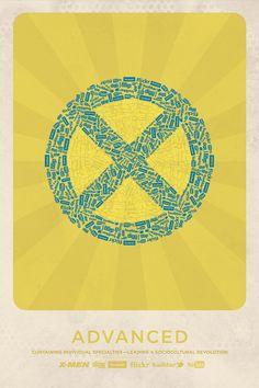 logos superheroes x-men - social network
