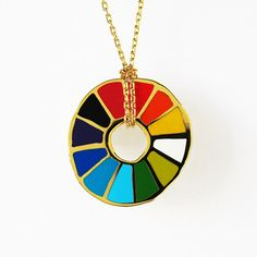 The Little Apple — Color Wheel Pendant Neckalce