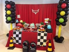Trendy Birthday Party Themes For Kids Race Cars Ideas Hot Wheels Party, Festa Hot Wheels, Hot Wheels Birthday, Race Car Birthday, Race Car Party, Race Cars, Dirt Bike Party, 3rd Birthday, Car Themed Parties