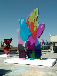 jeff koons art | How does Koons's painting process differ from the process of ten years ...