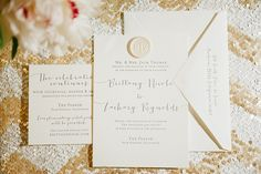 Parker Palm Springs wedding - Jessica Kettle - white gold pink - Palm Springs wedding invitations