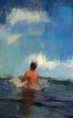 Swimmer Paintings Series – Fubiz Media