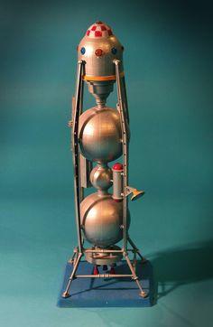 Vintage Science Fiction Model Kit: Moon Lander