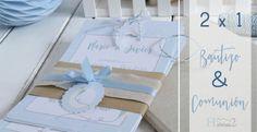 Comunión y bautizo 2 en 1/Detalles y papelería handmade para eventos by H A B I T A N 2 / Nuevos party-kits para comuniones http://habitandos.blogspot.com.es
