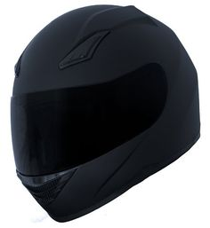 Amazon.com: Duke Matte Black Full Face Motorcycle Helmet DK-140 +FREE Tinted Visor: Automotive