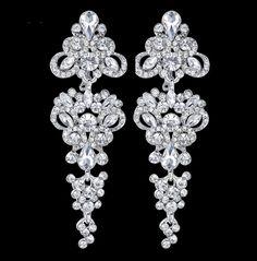 Společenské náušnice | Náušnice společenské TRIO | magickemomenty.cz - hřebínky a ozdoby do vlasů, svatební bižuterie, šperky, náušnice, náhrdelníky, svatební a módní doplňky, manžetové knoflíky