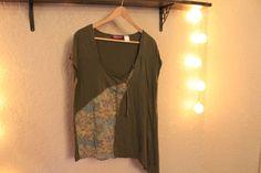 Tee-shirt asymétrique femme kaki en 46/48 Taillissime