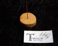 A simple incense stick holder. Made from natural drop beech and finished in Danish oil to bring out the lovely grain of the wood. Incense Sticks, Home Decor Shops, Simple, Danish, Workshop, Handmade, Drop, Etsy, Oil