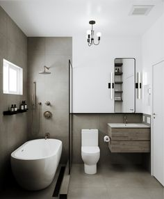 Small Bathroom With Tub, Modern Small Bathrooms, Bathroom Design Small, Laundry In Bathroom, Bathroom Interior Design, Modern Bathroom, White Bathrooms, Contemporary Bathrooms, Bathroom Faucets