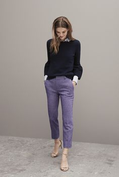 It's the Ryan-Fit pant—mid rise and straight through the hip and thigh. You'll love this sleek pant in a contemporary fit. Its leg-lengthening silhouette is super flattering and dresses up any outfit. Get yours exclusively at Banana Republic.