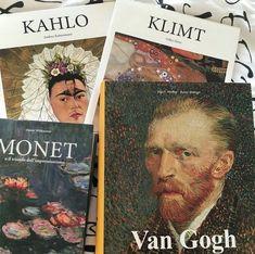 Frida Kahlo, Klimt, Monet and Van Gogh Monet, Arte Van Gogh, Fantasy Magic, Art Hoe Aesthetic, Aesthetic Anime, This Is A Book, Foto Art, Vincent Van Gogh, Wall Collage