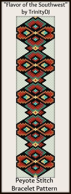 "New peyote stitch bracelet design for later this week - ""Flavor of the Southwest"""