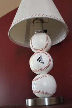 diy table lamps   Paint Speckled Pawprints: Baseball Table Lamp   DIY Crafts
