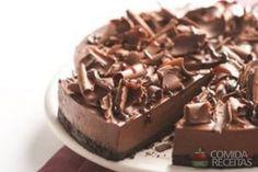 Receita de Chessecake de chocolate saboroso - Comida e Receitas
