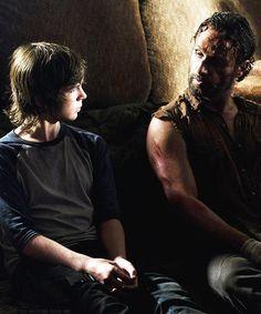 Carl and Rick Grimes #TheWalkingDead