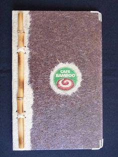 Cardápio+em+papel+reciclado+marrom+com+detalhe+na+lateral+e+na+logomarca+em+bege.+++O+bamboo+e++costurado+na+latera.++Encadernacao+feita+com+3+parafusos+de+plastico.++Seu+interior+e+todo+em+craft.++Possui+uma+flolha+plastica+interna,+com+4+cantoneiras+de+metal.+++Por+ser+todo+impemeabilizado+tem+uma+durabilidade+de+ate+dois+anos.++Observação,+o+cardapio+pode+ser+mudado+de+acordo+com+as+especificações+do+cliente. R$ 47,30