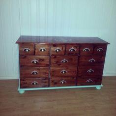 Kommode mahogny paint dresser mint diy white