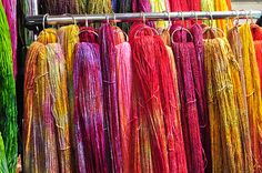 Hand Dyed Yarn. How breathtakingly beautiful are the colors. Photo by Traci Bunkers.