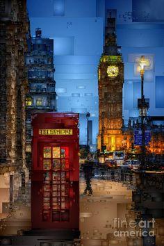 Big Ben London Digital Art by Rafael Salazar