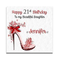 Handmade Personalised Daughter Granddaughter 16th 18th 21st 30th Birthday Card Greeting