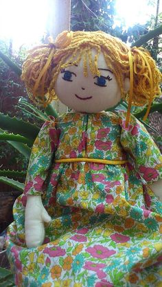 Old Fashioned Rag Doll with Liberty of London dress by RagdollsAndWoollies on Etsy https://www.etsy.com/listing/184826915/old-fashioned-rag-doll-with-liberty-of