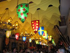 Gracia Festival Medieval Castle theme by LauraMichellePowers, via Flickr - love the glowing   #Kingdom #Rock #VBS. can use dollar store table cloths cut in half