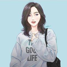 Drawing Couple Poses Cartoon New Ideas Illustration Girl, Character Illustration, Anime Art Girl, Manga Girl, Drawing Couple Poses, Estilo Anime, Digital Art Girl, Korean Art, Korean Anime
