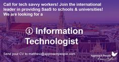 Job Description, Product Description, Solution Architect, International Jobs, Career Opportunities, Dream Job, Opportunity, Germany, University