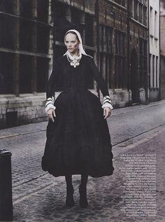"Freja Beha Erichsen in Giorgio Armani - ""Master Class"" by Mario Testino for UK Vogue September 2011 by Winter Phoenix, via Flickr #baroque"