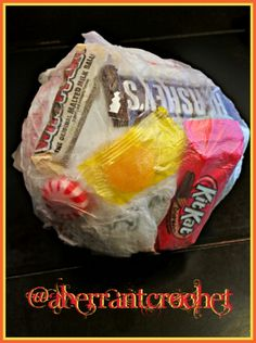 Tape Ball Candy Ball Saran Wrap Ball - Fun Game Instructions - by Aberrant Crochet