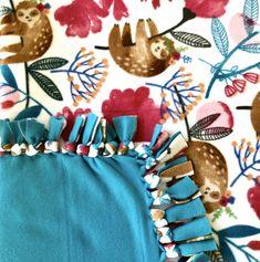 sloth fleece no sew blanket cute sloth fleece blanket adult no sew fleece blanket sloth blanket christmas gift cozy gift trending ? Fleece Tie Blankets, No Sew Fleece Blanket, No Sew Blankets, Cute Sloth, Blanket Sizes, Bedding, Christmas Gifts, Handmade Items, Cozy
