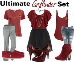 """Ultimate Gryffindor Set"" by nearlysamantha on Polyvore"