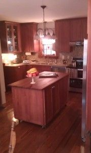Kitchen Cabinet Two Islands Perimeter Is Homecrest Cabinetry Eastport Maple Sprout Paint With