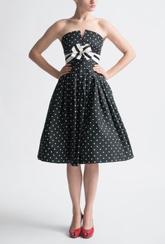 Vintage Archive Black and White Cocktail Dress
