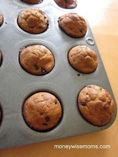 Whole Wheat Pumpkin Chocolate Chip Mini Muffins