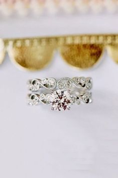 21 Budget-Friendly Engagement Rings Under $1,000 ❤️ cheap wedding rings round cut siver vintage kirkkara ❤️ See more: http://www.weddingforward.com/cheap-engagement-rings/ #weddingforward #wedding #bride