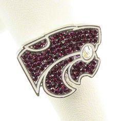 Kansas State Wildcats Rhinestone Ring